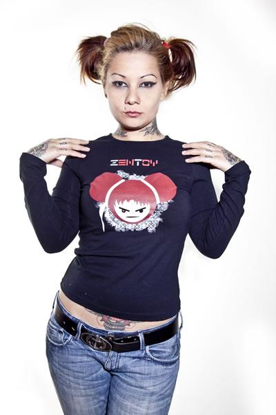 ZenToy - Camiseta mujer negra (manga larga)