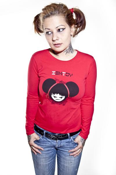 ZenToy - Camiseta mujer roja (manga larga)