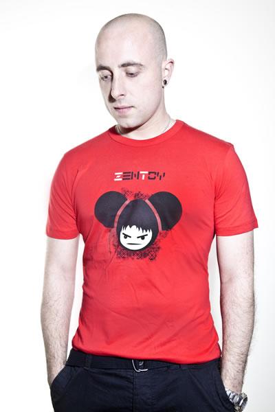 ZenToy - Camiseta hombre roja